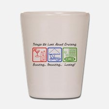 Boozing, Snoozing... Shot Glass