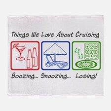 Boozing, Snoozing... Throw Blanket