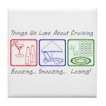 Boozing, Snoozing... Tile Coaster