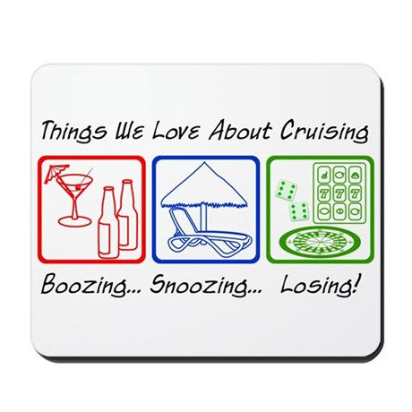 Boozing, Snoozing... Mousepad