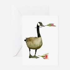 Canada Goose Rose Greeting Card