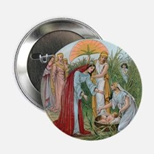 "Moses in a basket 2.25"" Button"