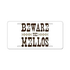Beware the Mellos Aluminum License Plate