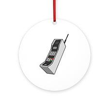 1980's Cellphone Ornament (Round)