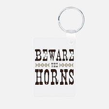 Beware the Horns Keychains