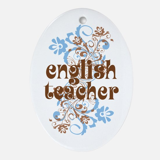 English Teacher Gift Ornament (Oval)