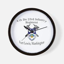 4th Bn 23rd Infantry Wall Clock