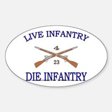 4th Bn 23rd Infantry Sticker (Oval)