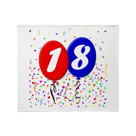 18th Birthday Throw Blanket