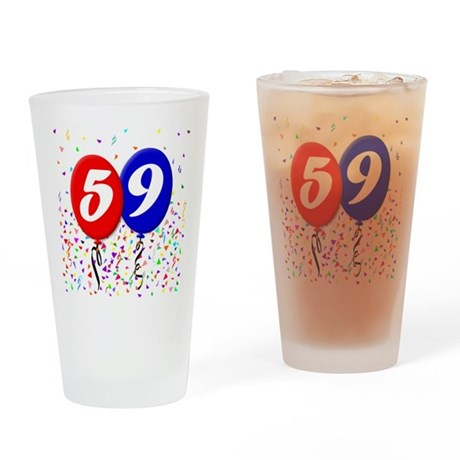 59th Birthday Pint Glass