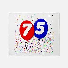 75th Birthday Throw Blanket