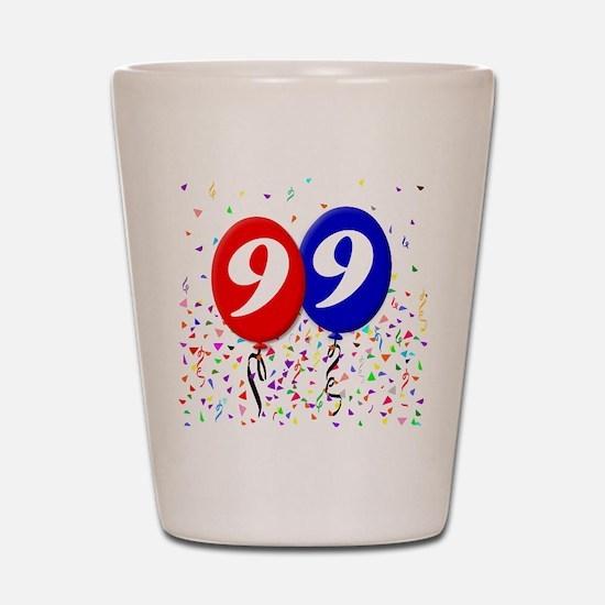 99th Birthday Shot Glass
