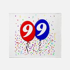99th Birthday Throw Blanket