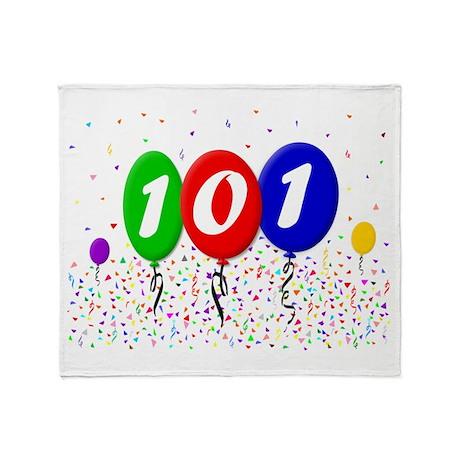 101st Birthday Throw Blanket