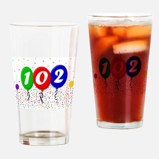 102nd Birthday Pint Glass