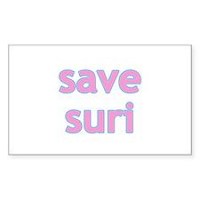 Save Suri Tom Katie Scientology Sticker (Rectangu