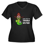 Funny Tequila Women's Plus Size V-Neck Dark T-Shir