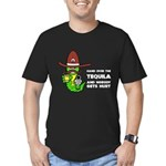 Funny Tequila Men's Fitted T-Shirt (dark)