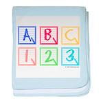ABC 123 baby blanket