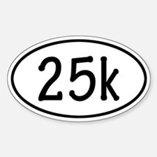 25k Oval Decal