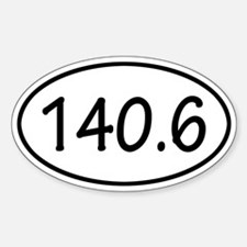140.6 Oval Decal