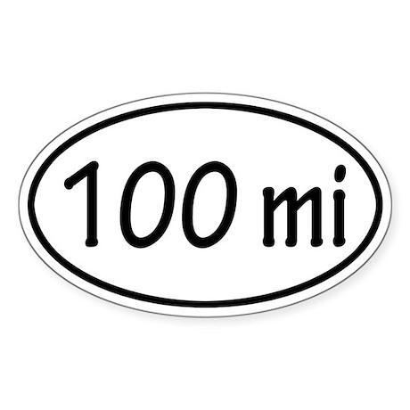 100 mi Oval Sticker