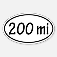 200 mi Oval Decal