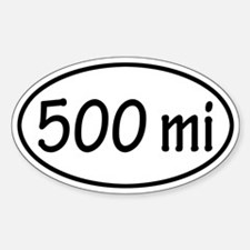 500 mi Oval Decal