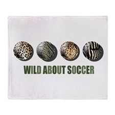 Wild About Soccer Throw Blanket