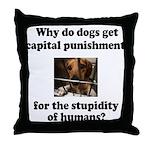 Capital Punishment Throw Pillow