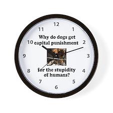 Capital Punishment Wall Clock