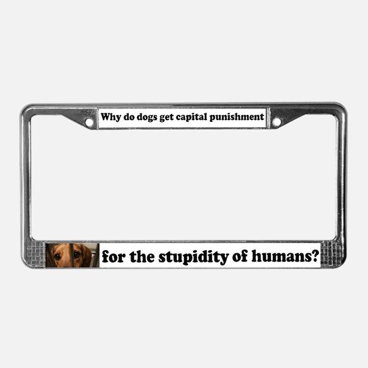 Capital Punishment License Plate Frame