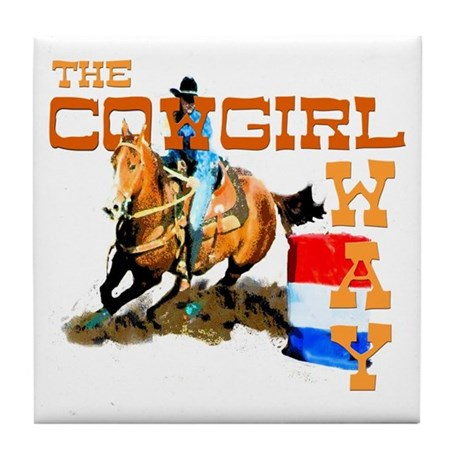 The Cowgirl Way Gifts & Tees Tile Coaster