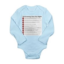 Know Your TSA Rights Long Sleeve Infant Bodysuit