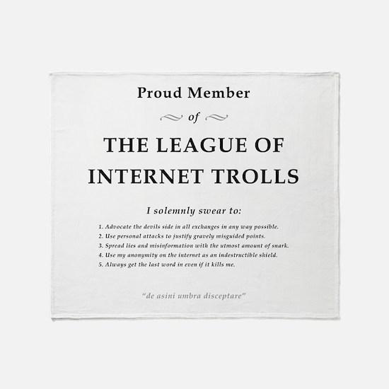 League of Internet Trolls Throw Blanket