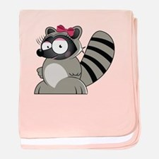 Raccoon baby blanket