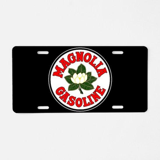 Magnolia Gasoline Aluminum License Plate