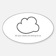 Cloud Sticker (Oval)