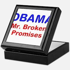 OBAMA - Mr. Broken Promises Keepsake Box