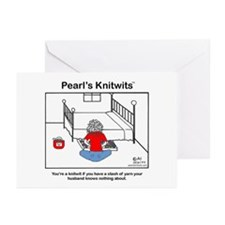Pearl with Yarn Stash Blank Cards  (Pk of 10)