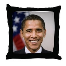 US President Barack Obama Throw Pillow