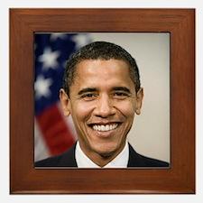 US President Barack Obama Framed Tile