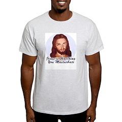 Masturbate Ash Grey T-Shirt