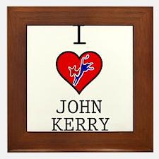 I Love John Kerry Framed Tile