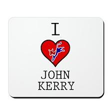 I Love John Kerry Mousepad