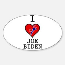 I Love Joe Biden Sticker (Oval)