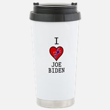 I Love Joe Biden Stainless Steel Travel Mug
