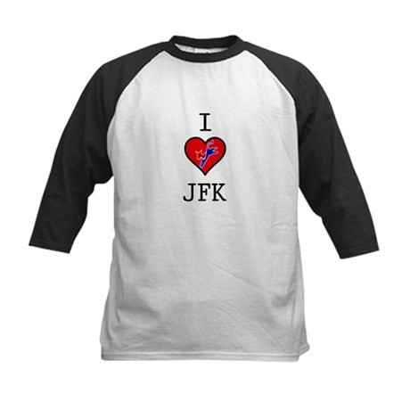 I Love JFK Kids Baseball Jersey