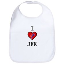 I Love JFK Bib