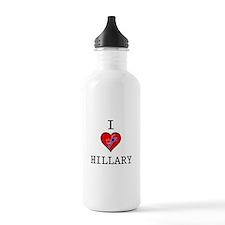 I Love Hillary Clinton Water Bottle